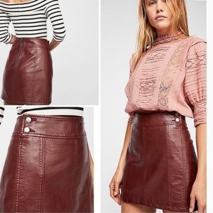 NWOT Free People Mini Retro Bodycon Skirt